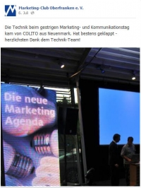 Danksagung Marketing Club Oberfranken e.V.